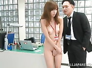 Hot office babe Miyuki Yokoyama needs a raise and the only way to receive it is to tease and seduce her boss into fucking her tight pussy.