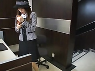 Kotone Amamiya is a hot Asian MILF in an office suit.