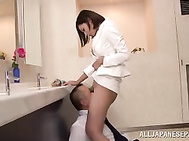 Office suit makes the look of our juicy hot MILF so seductive, and arouses a lot of dirty fantasies about kinky action with her.