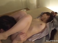 She is lost for words when her boss opens up her legs and licks her juicy gaping hole.