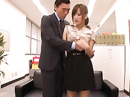 Busty office worker Kokone Mizutani fucked by her boss.