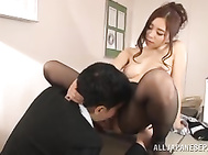 Gorgeous Japanese office lady, Misuzu Imai, is about to have the fuck of her life with her boss while in his office.