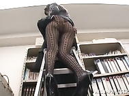 Talented Asian office lady in sexy pantyhose Arisa Misato fucked by boss.