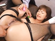 Because a girl like that could fulfill all your fantasies, she loves anal sex and of course everything about her pussy and she always wears the sexiest clothing especially black and white lingerie and fishnet stockings like this time.