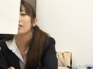 Harsh fuck at the office for sleazy Japanese cutie.