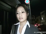 Hot MILF in office suit Minami Asano likes hot sex at work.