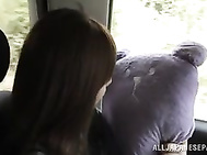 Playful AV babe Akiho Yoshizawa fingered in a public place.