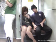 Amateur Japanese babe gets a hardcore experience in public.