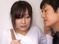 Having sex in public is not what this Japanese babe is normally used to.
