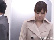 Horny Asian chick Rina Rukawa get mouth fucked in a public place.
