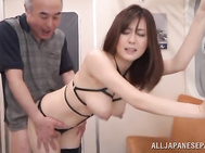 The amazed guys lick and fondle her big tits and finger her horny pussy, craving for cock in this hot Asian porn video.