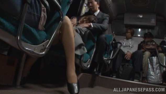 She enjoys riding the train every night and today she got picked up by hunk with huge cock which for her seemed impossible for refusal! Horny Asian chick!.
