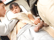 Hot Japanese beauty with curvy ass and nice boobs, Nana Nanaumi, starts making out with two strangers while in public.