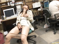 Miyo Kagura is a sexy hot Asian MILF in her office suit.