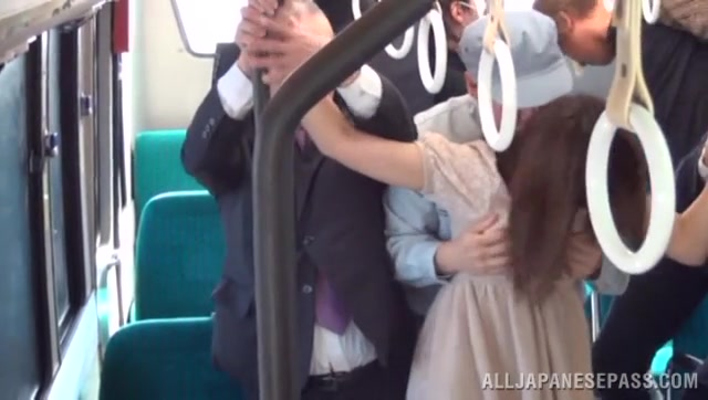 Sexy Japanese girl Rina Rukawa gets fucked in a public place.