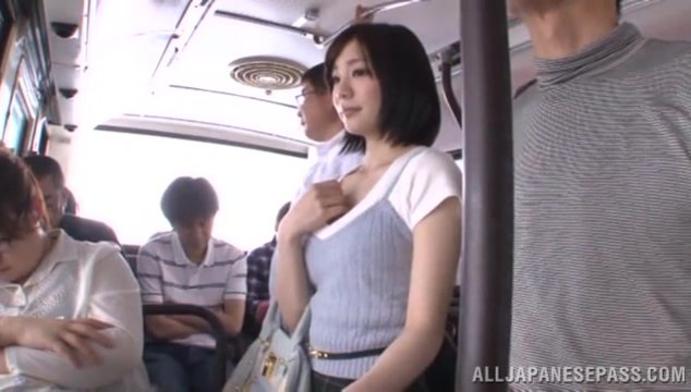 Slender Japanese milf Airi Suzumura enjoys public sex with a horny guy.