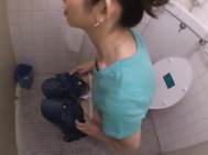 A Surprise Doggy Style Toilet Fuck For Miku Hasegawa.