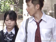 Teen schoolgirl Mana Kanase stripped down so she can ride.