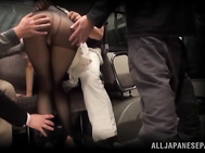 She is an insatiable Asian babe getting plenty of cock!.