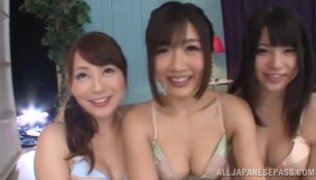 Japanese nymphos takes part in a nasty group action.