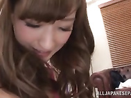 Cute Japanese milfs with lovely fit bodies and horny pussies seduce a young impressive guy and begin to tease his body.