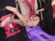 Nice Japanese sex doll Chika Kazano gets tied up and teased by one really horny guy using all kinds of stimulation for her pussy.
