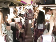 These crazy Asian models are on a bus trip with their boyfriends.