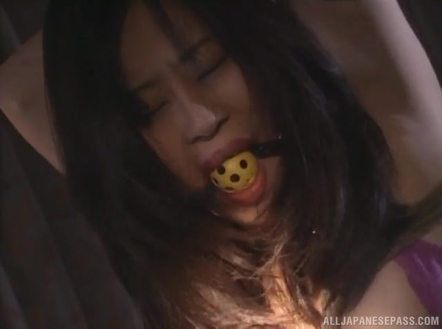 Very hot and sexy looking Japanese AV model Ayane Yuki gets tied up by her lover.