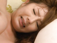 Yui Azusa is a naughty young wife, and she likes experiencing all kinds of raunchy things when it comes to sex, including having two guys ravage her body! These guys feel up her whole body, from her tits down to her warm snatch, as their tongues and finge