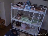 A group of young Asian people stay together in one room for a night.