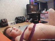 Adorable and submissive Japanese gets 50 shades of pain and pleasure.