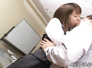 Chinatsu Nakano and the new office lady get kinky with a colleague.